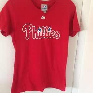 Phillies Red tee shirt size med